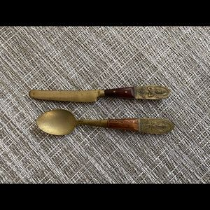 Thailand Nickel/Bronze Knife and Spoon